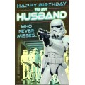 Greeting Card Star Wars To My Husband