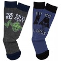 Star Wars 2 Pair Pack of Yoda Vs Darth Vader Socks