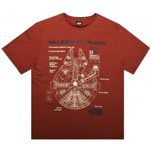 Футболка Star Wars Millennium Falcon Brown размер Large
