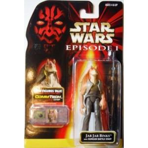 Фигурка Star Wars Jar Jar Binks with Gungan Battle Staff серии: Episode I