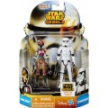 Фигурки Star Wars Rebels Sabine Wren and Stormtrooper из серии: Mission Series