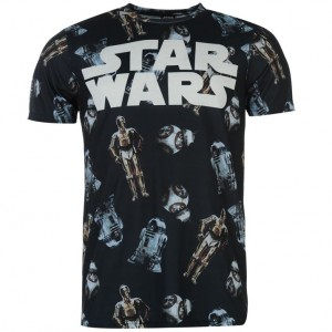 Футболка Star Wars The Force Awakens Droids размер Large